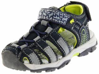 Lurchi Kinder Outdoor Sandaletten blau Leder Jungen Schuhe 33-21607-22 navy Bobby – Bild 1