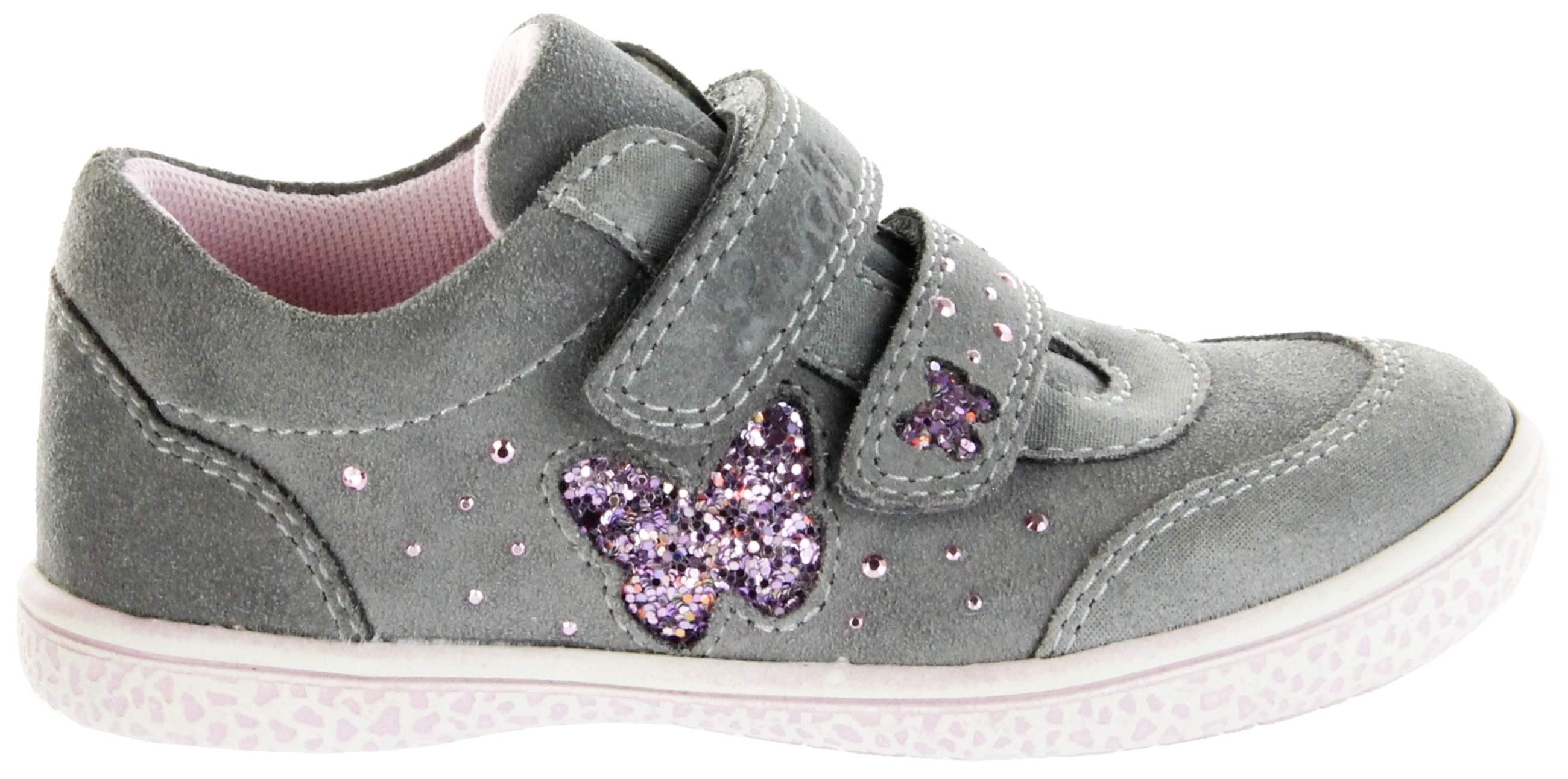 online store e1dbd 2b76c Lurchi Kinder Halbschuhe Sneaker grau Velourleder Mädchen Schuhe  33-15279-25 lt. grey Tany
