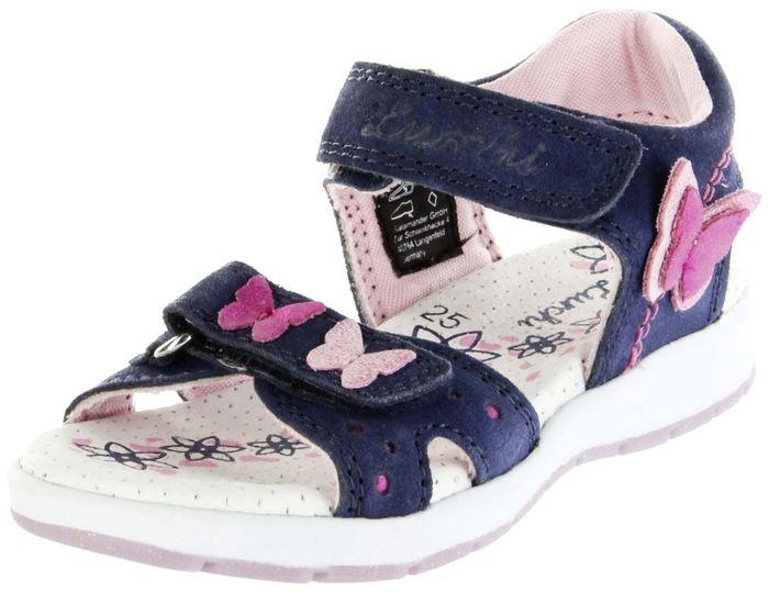 Lurchi Kinder Sandaletten blau Velourleder Lederdeck Mädchen Schuhe 33-22903-22 navy Delia