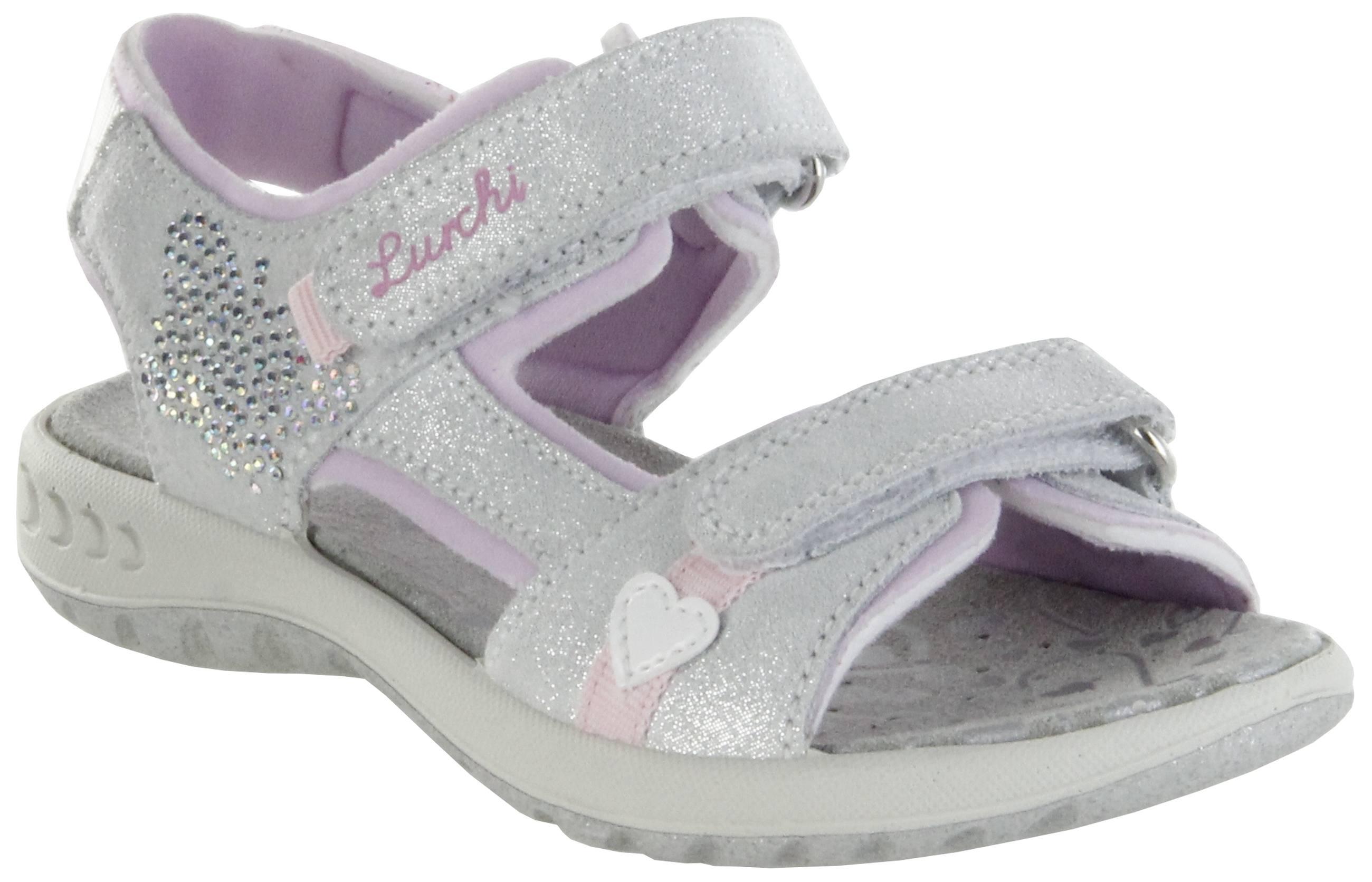 newest f7870 732f8 Lurchi Kinder Sandaletten silber Leder Lederdeck Mädchen Schuhe 33-18805-29  Fia