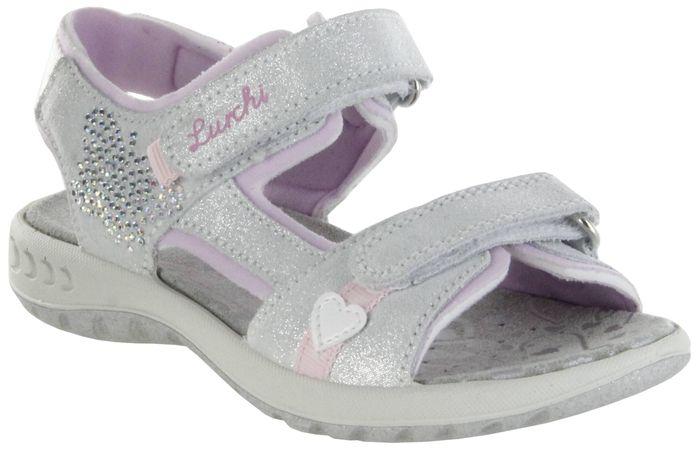 Lurchi Kinder Sandaletten silber Leder Lederdeck Mädchen Schuhe 33-18805-29 Fia