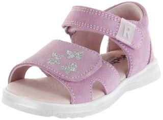 Richter Kinder Lauflerner-Sandalen rosa Velourleder Mädchen Schuhe 2401-541-3110 candy Lilly