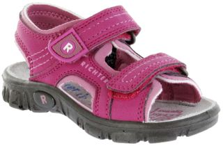 Richter Kinder Sandaletten Outdoor pink Lederdeck Mädchen 8101-341-3502 fuchsia Adventure – Bild 1