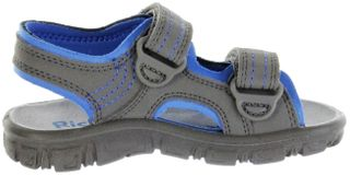Richter Kinder Sandaletten Outdoor grau Lederdeck Jungen 8101-341-6613 pebble Adventure – Bild 5