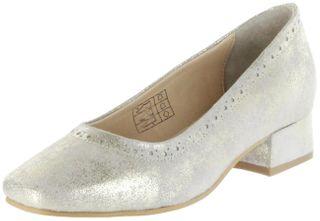 Bergheimer Trachtenschuhe Trachten Pumps gold Velourleder Damen Schuhe Frieda – Bild 1