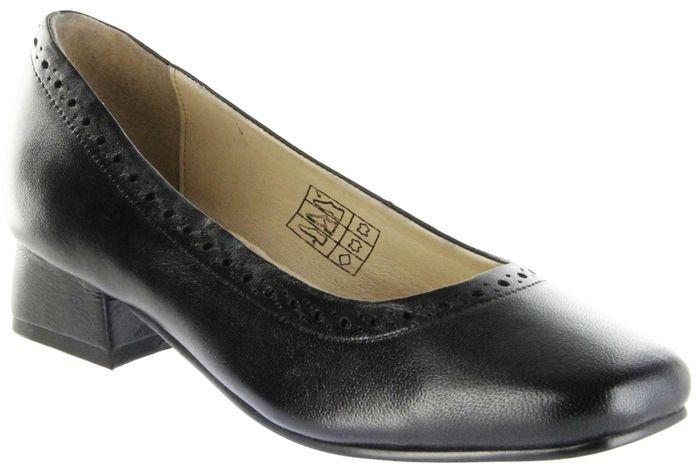 Bergheimer Trachtenschuhe Trachten Pumps schwarz Glattleder Damen Schuhe Frieda