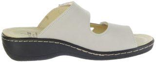 Belvida Wohlfühl-Pantoletten braun Leder Wechselfußbett rutschhemmende Sohle Klett Damen Schuhe 42.498 – Bild 5