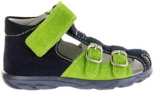 Jela Kinder Lauflerner-Sandalen blau Velourleder Jungen Schuhe 2111Z-552-7201 atlantic Terrino – Bild 2