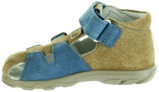 Jela Kinder Lauflerner-Sandalen beige Velourleder Jungen Schuhe 2111Z-552-0701 sand Terrino – Bild 5
