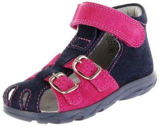 Jela Kinder Lauflerner-Sandalen blau Velourleder Mädchen Schuhe 2111Z-551-7201 atlantic fuchsiaTerrino – Bild 1