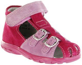 Jela Kinder Lauflerner-Sandalen pink Velourleder Mädchen Schuhe 2111Z-551-3501 fuchsia Terrino