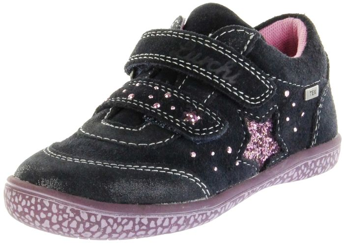 Lurchi Kinder Halbschuhe Sneaker blau Velourleder  Mädchen Schuhe 33-15287-22 atlantic TANY-TEX