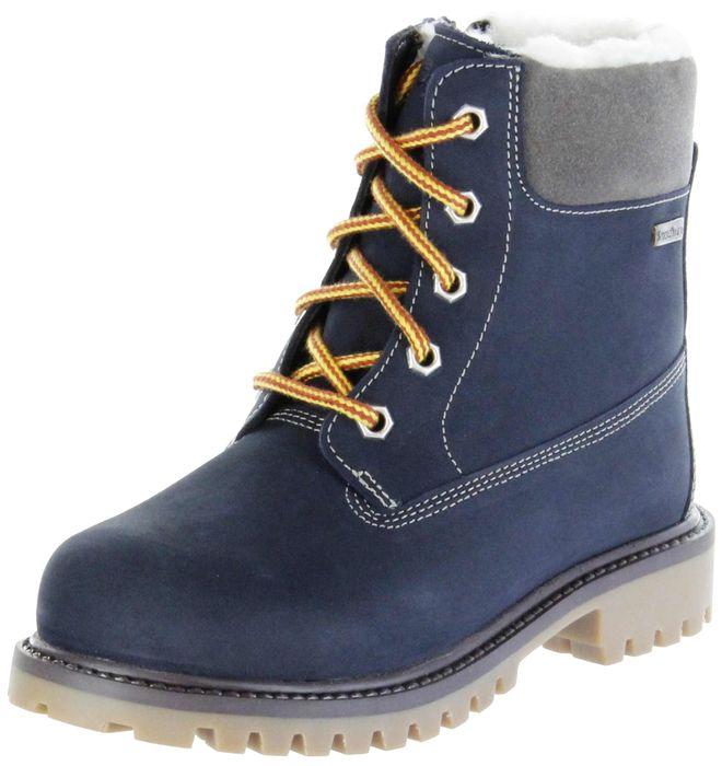 Lurchi Kinder Winter Stiefel blau Nubukleder Jungen Boots 33-12024-22 navy ILIO-SympaTex