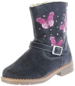 Lurchi Kinder Stiefel grau Velourleder Mädchen Schuhe 33-17200-25 charcoal FIBY-TEX – Bild 1