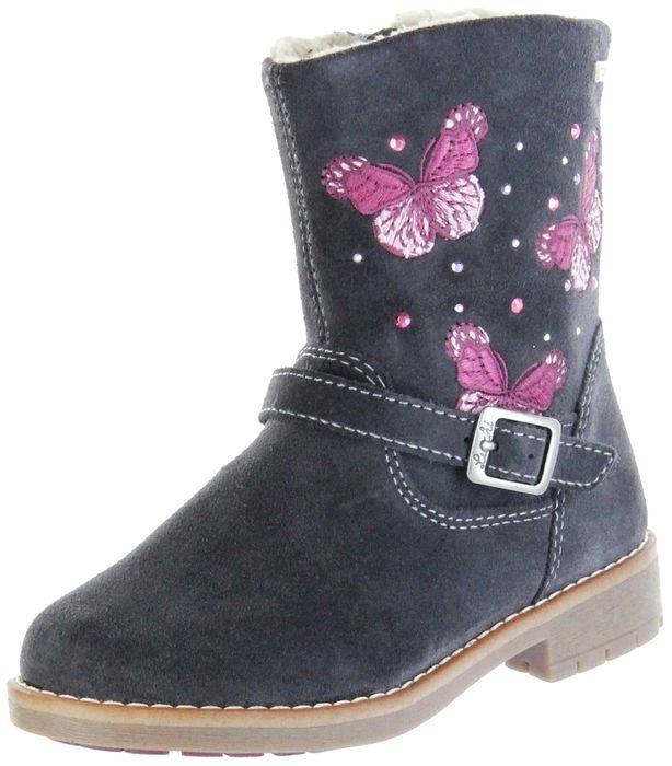 Lurchi Kinder Stiefel grau Velourleder Mädchen Schuhe 33-17200-25 charcoal FIBY-TEX