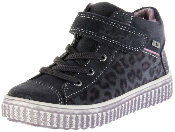 Lurchi Kinder Halbschuhe grau Velourleder warm Mädchen Schuhe 33-37002-25 charcoal YULI-TEX