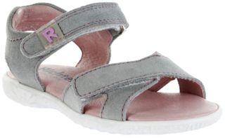 Richter Kinder Sandaletten grau Velourleder Mädchen Schuhe 5206-7111-1830 fog SOLE – Bild 1