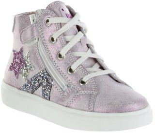 Richter Kinder Halbschuhe Sneaker rosa Metallicleder Mädchen Schuhe 3762-7161-3111 candy FLORA – Bild 1