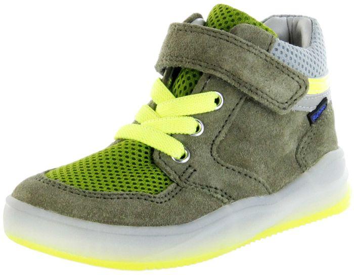 Richter Kinder Halbschuhe Sneaker Velourleder grün Jungen Schuhe 6756-7111-8101 scandinavian yellow HARRY L