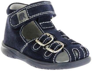Richter Kinder Lauflerner-Sandalen blau Velourleder Jungen Schuhe 2608-7113-7200 atlantic BABEL – Bild 1