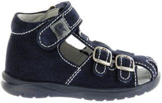 Richter Kinder Lauflerner-Sandalen blau Velourleder Jungen Schuhe 2608-7113-7200 atlantic BABEL – Bild 2