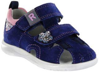 Richter Kinder Lauflerner-Sandalen blau Velourleder Mädchen Schuhe 2605-7111-6821 nautical BABEL – Bild 1