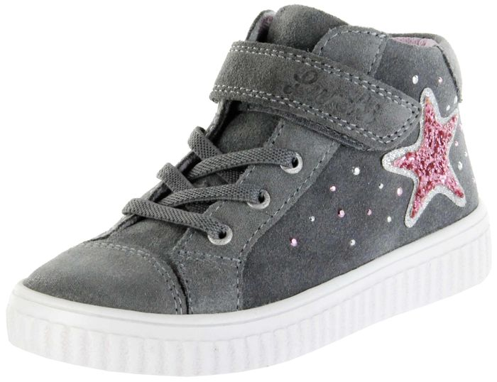 Lurchi Kinder Halbschuhe Sneaker grau Velourleder Lederdeck Mädchen Schuhe 33-37007-25 YENNI