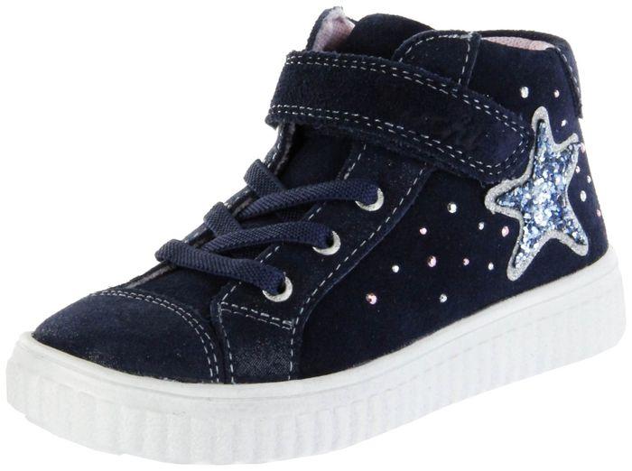 Lurchi Kinder Halbschuhe Sneaker blau Velourleder Lederdeck Mädchen Schuhe 33-37007-42 navy YENNI
