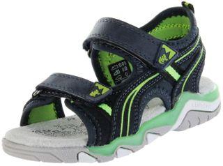 Lurchi Kinder Sandaletten blau Velourleder Lederdeck Jungen Schuhe 33-21211-42 navy green Bennet – Bild 1