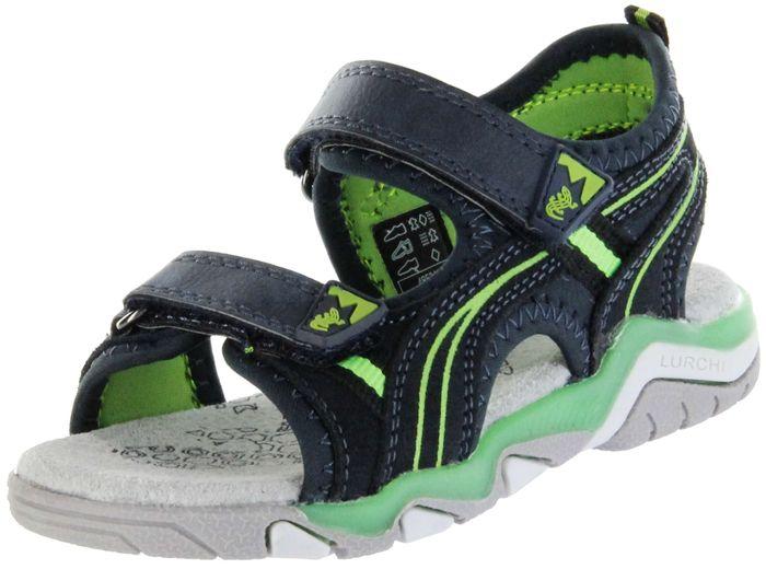 Lurchi Kinder Sandaletten blau Velourleder Lederdeck Jungen Schuhe 33-21211-42 navy green Bennet