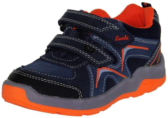 Lurchi Kinder Halbschuhe Sneaker Sportschuhe blau Jungen Schuhe 33-23424-42  navy orange MATTHIAS-TEX