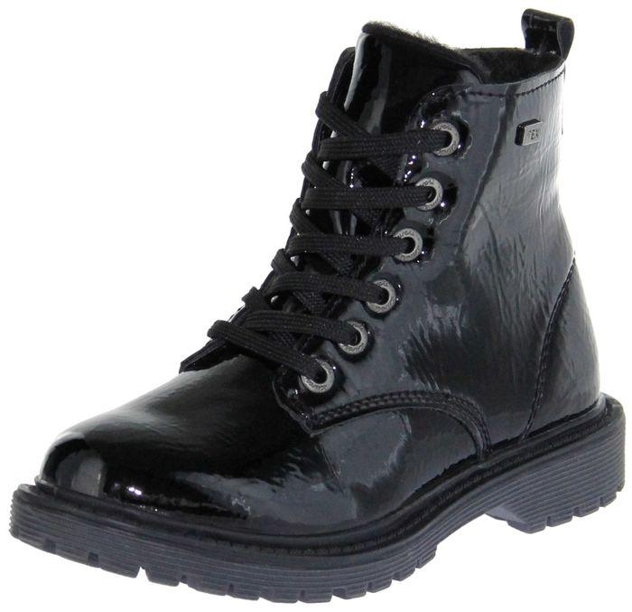 Lurchi Kinder Stiefel Winter schwarz Lackleder Mädchen Schuhe 33-41000-31 XENIA-TEX