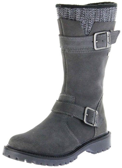 Lurchi Kinder Stiefel grau Velourleder Mädchen Schuhe 33-41004-25 XINA-TEX