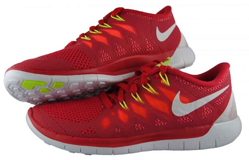 Damen Nike Free 5.0 WMNS Rot Weiß 642199-601 Laufschuhe Größe 37,5 ... 0080d670a1