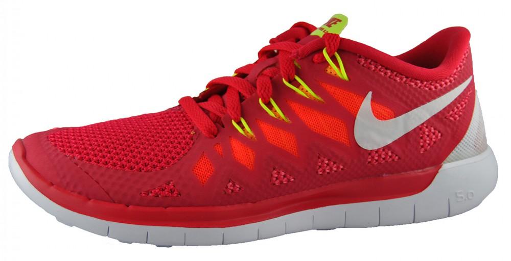 Damen Nike Free 5.0 WMNS Rot Weiß 642199-601 Laufschuhe Größe 37,5 38 39