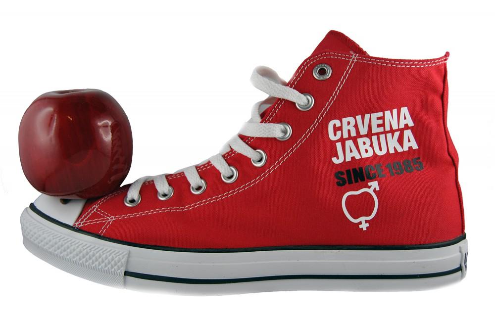 Limited Red Apple Roter Apfel Crvena Jabuka 30 Godina Since 1985 Converse Shoes