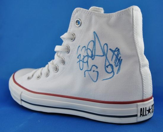 Signatur Zera Red Apple Roter Apfel Crvena Jabuka Converse Shoes All Star Hi Weiß