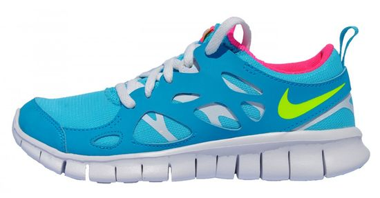 Nike Free Run 2 (GS) 477701-402 Kinder Laufschuhe Blau Weiß