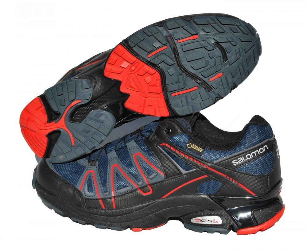 Gore-Tex Salomon XT Pulse GTX V0 Blau Schwarz Rot Wandern Walking Damen Outdoor
