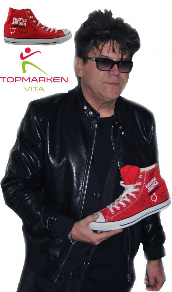 Limited Red Apple Roter Apfel Crvena Jabuka 30 Godina Since 1985 Shoes Lila