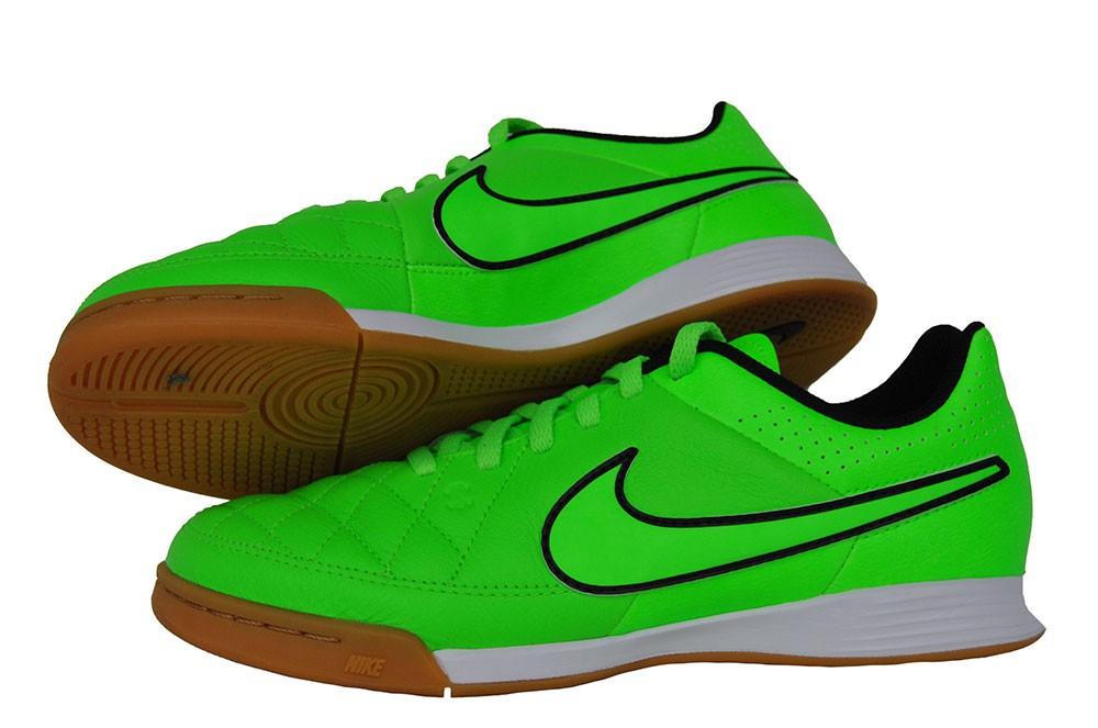 Nike Jr Tiempo Genio Leather IC 631528-330 Kinder Grün Fußballschuhe