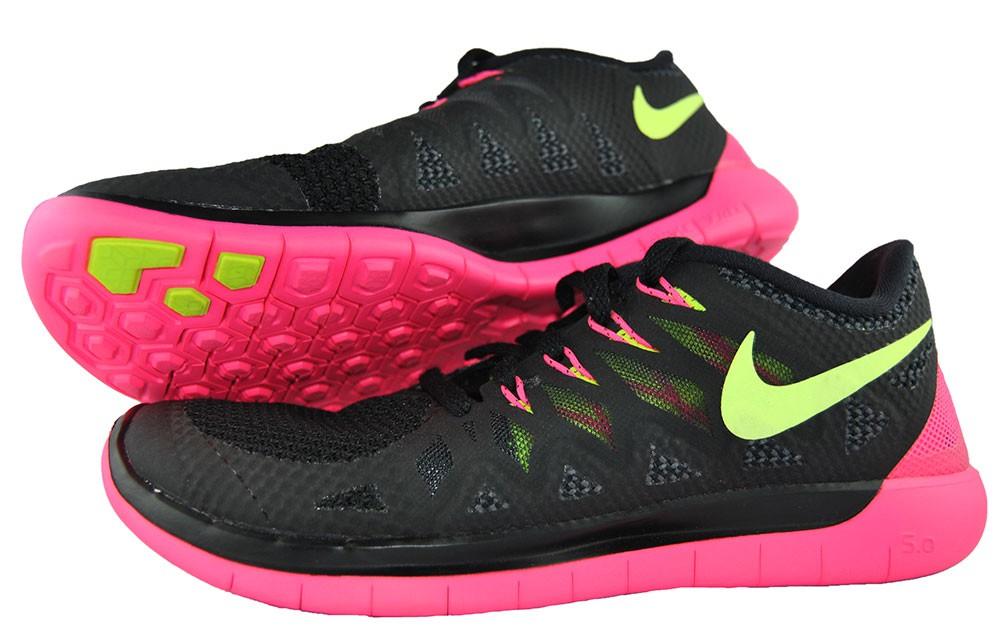 Nike Free 5.0 Schwarz Pink 642199-002 Damen-Women's Laufschuhe