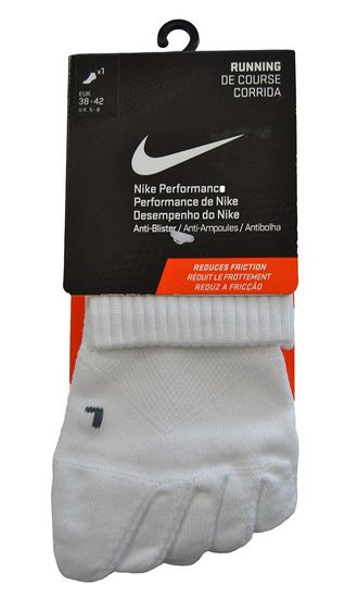 Nike 5-Toe Anti-Blister SX4682 148 No-Show Running Socks Unisex Weiß
