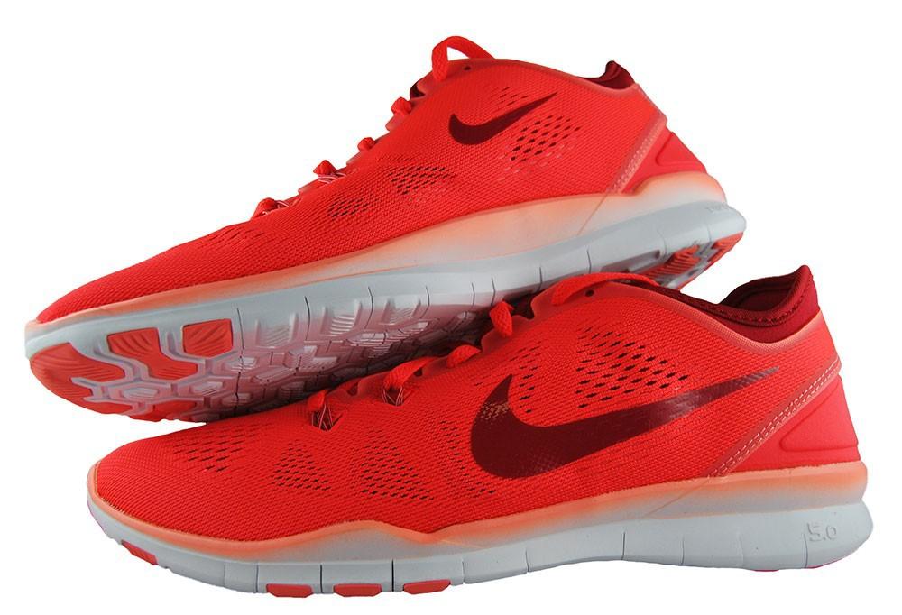 Nike Wmns Free 5.0 Tr Fit 704674-601 Damen Women's Laufschuhe Rot Pink