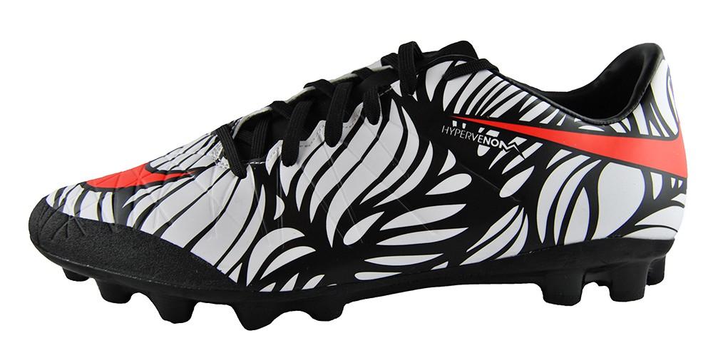 Nike Hypervenom Phelon II NJR AG R 820132-061 Neymar Fußballschuhe Weiß Schwarz