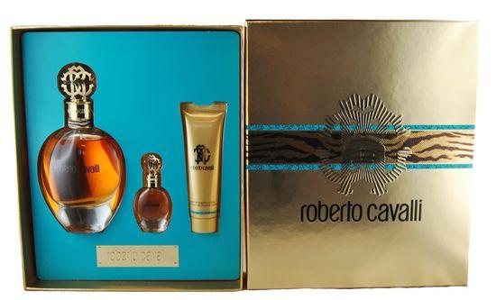 Roberto Cavalli Geschenkset Damen Set 75ml EDP + 5ml EDP + 30ml Body Lotion