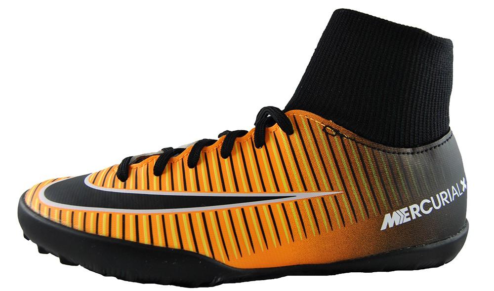 29d4ed0c7e53f Nike Jr MercurialX Victory 6 DF TF 903604-801 Kinder Fußballschuh Schwarz  Orange