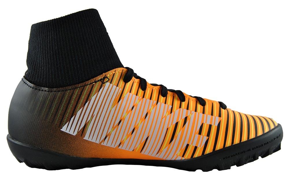 Nike Jr MercurialX Victory 6 DF TF 903604-801 Kinder Fußballschuh Schwarz Orange
