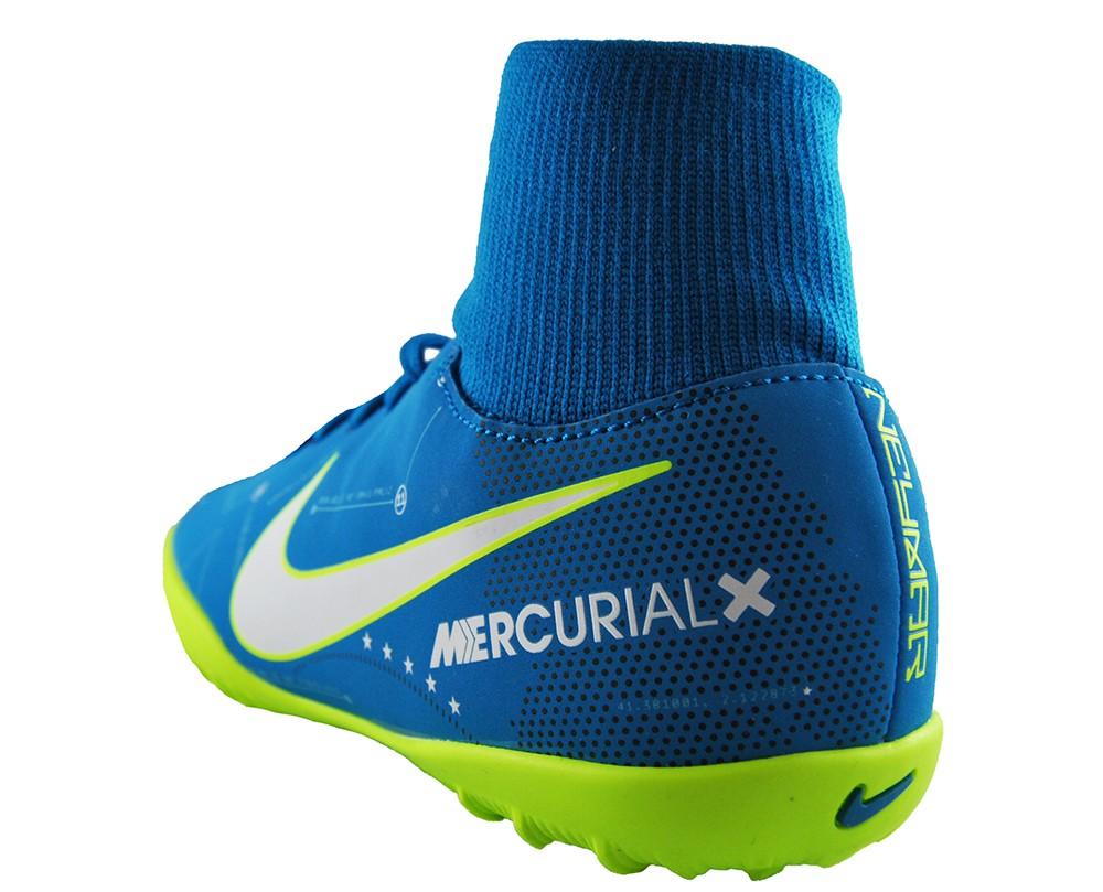 Nike Jr MercurialX Victory 6 DF Neymar TF 921492-400 Kinder Fußballschuhe Blau