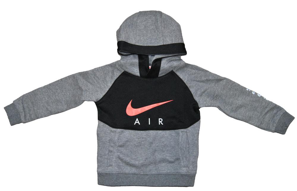 Nike Jungen Hoodie Schwarz Grau Sweatshirt Kinder 8UB850 GEH